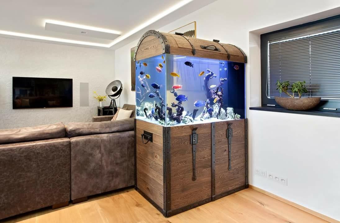 необычный дизайн аквариума