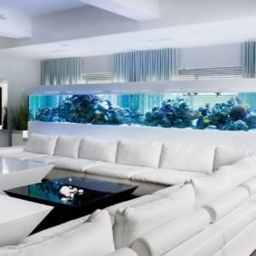аквариум в квартире декор