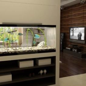 аквариум в квартире интерьер