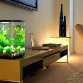 аквариум в квартире идеи интерьер