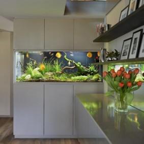 аквариум в квартире фото оформления