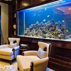 аквариум в квартире варианты