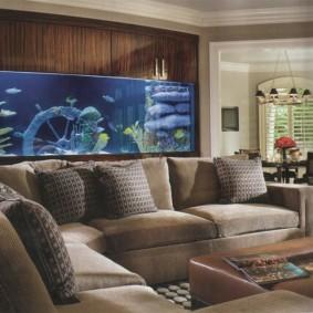 аквариум в квартире варианты фото