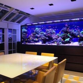 аквариум в квартире дизайн фото