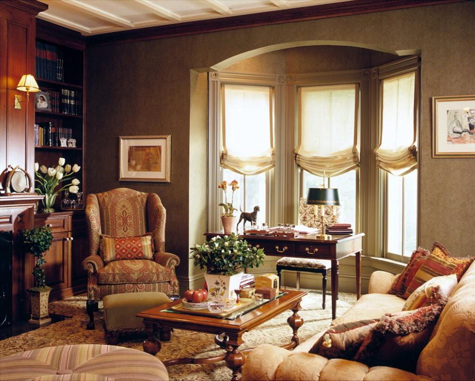 Зона отдыха в гостиной английского стиля