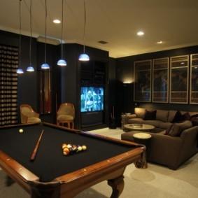 бильярдная комната фото декор