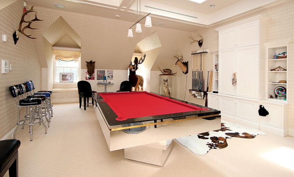 бильярдная комната фото дизайн