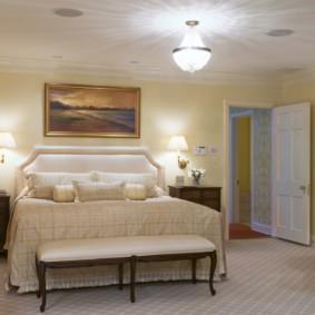 бра в спальне над кроватью виды дизайна