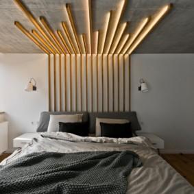 бра в спальне над кроватью фото оформления