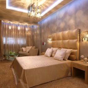 бра в спальне над кроватью дизайн идеи