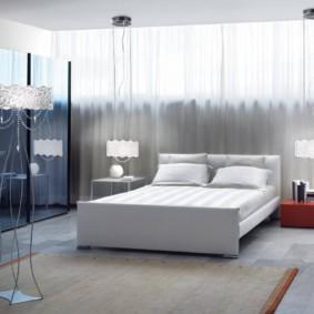бра в спальне над кроватью декор фото