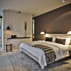 бра в спальне над кроватью оформление
