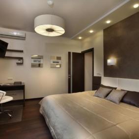 бра в спальне над кроватью фото оформление
