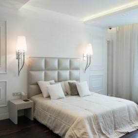 бра в спальне над кроватью оформление идеи