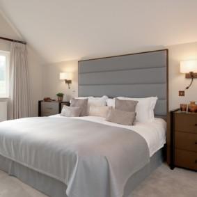 бра в спальне над кроватью идеи дизайн