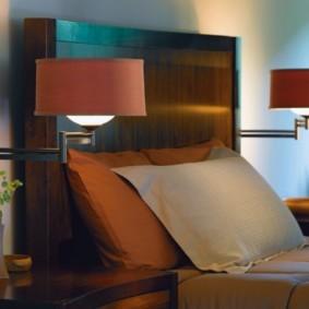 бра в спальне над кроватью идеи дизайна