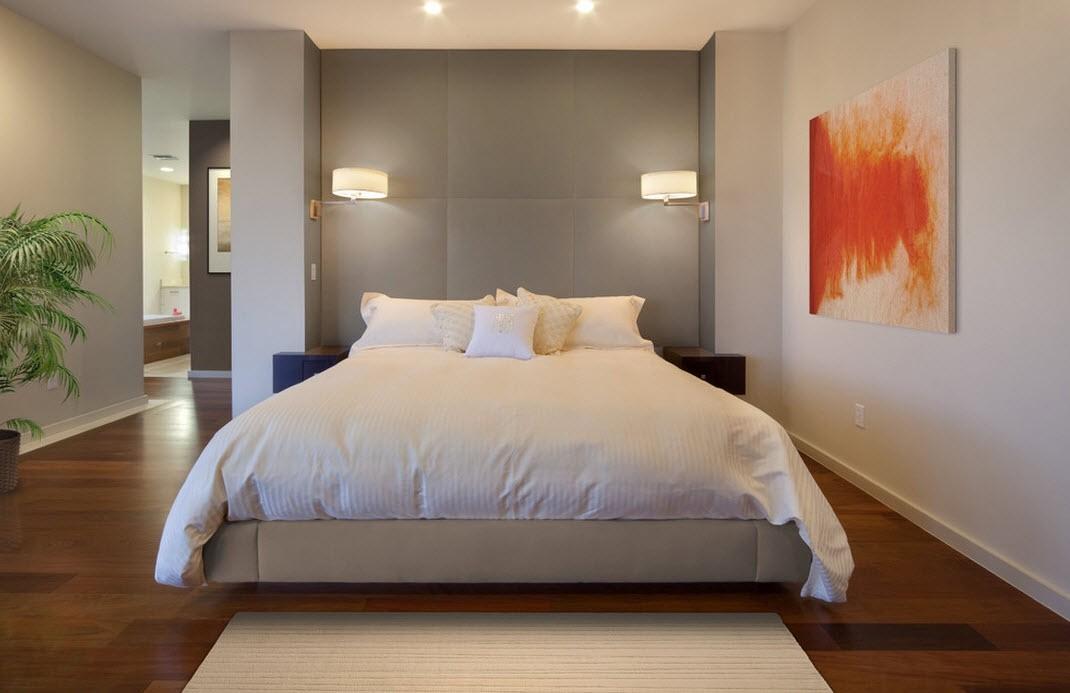 бра в спальне над кроватью интерьер