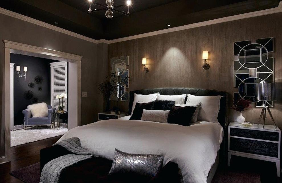 Ночное освещение в современной спальне