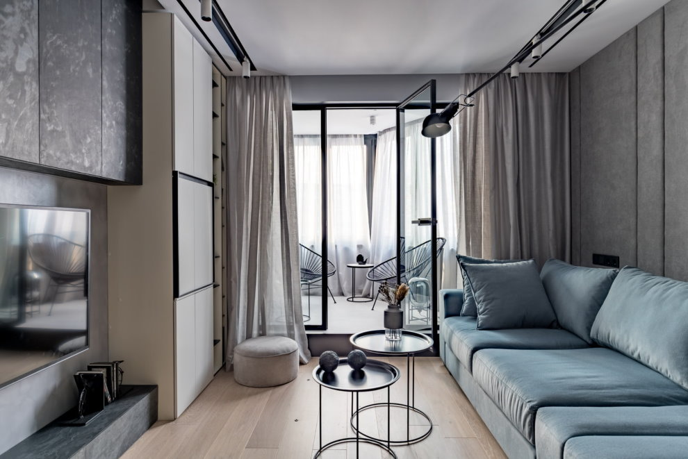 Минималистический декор гостиной комнаты