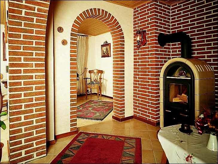 арки в квартире клинкерная плитка