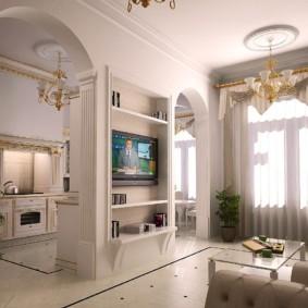 декоративные арки в квартире интерьер