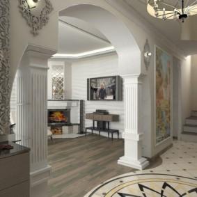 декоративные арки в квартире фото интерьер