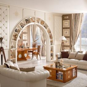 декоративные арки в квартире фото вариантов