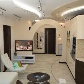 декоративные арки в квартире виды