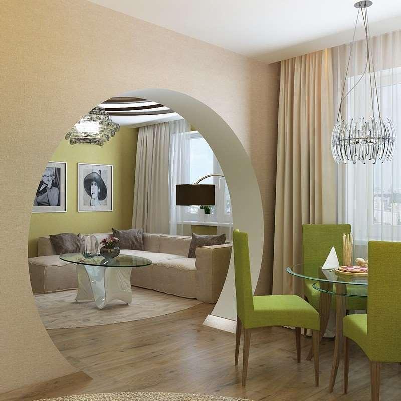 арка с комнаты на кухню фото настала пора