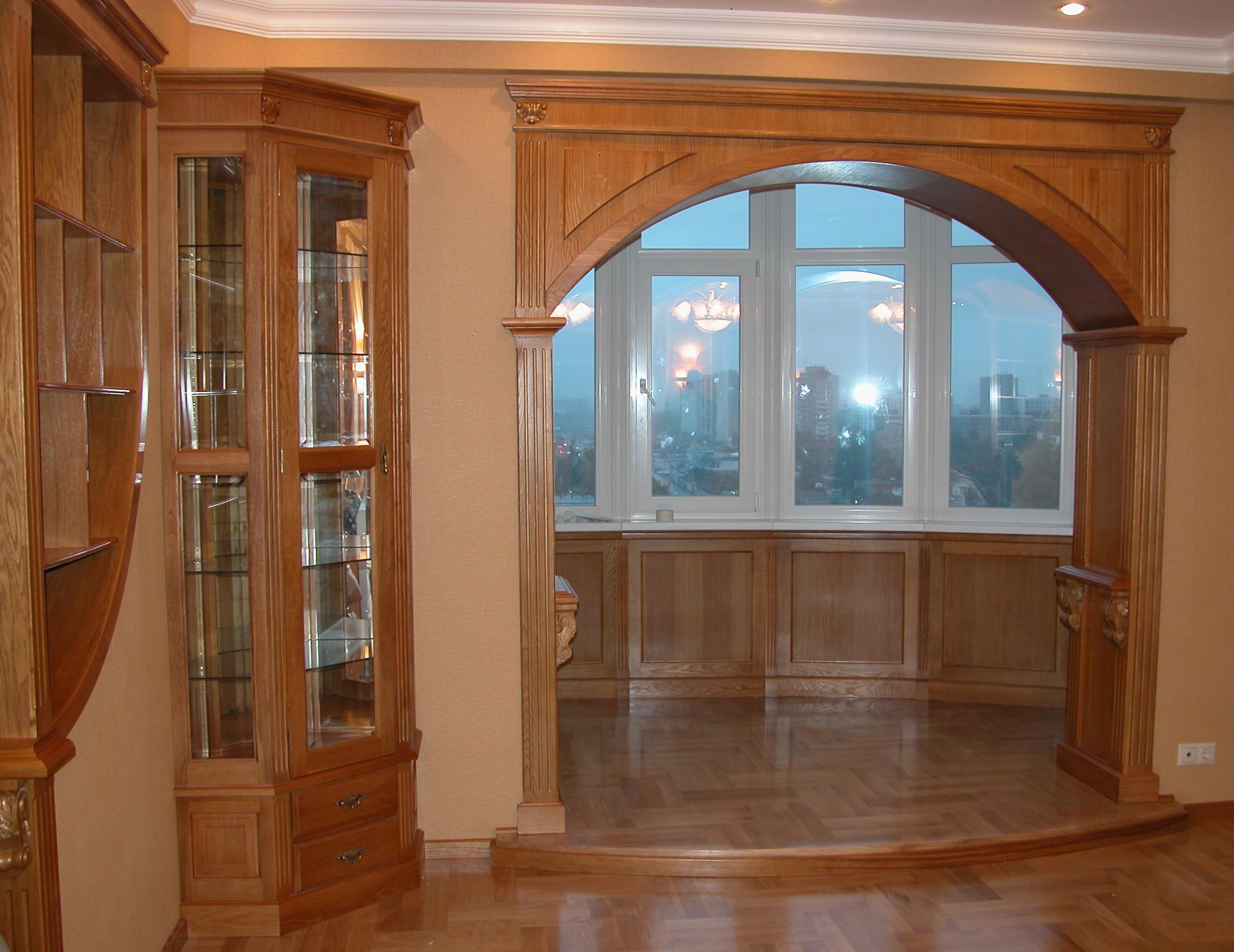 деревянная арка в квартире