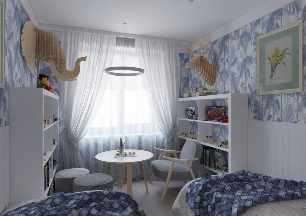 Интерьер детской комнаты для двоих мальчиков
