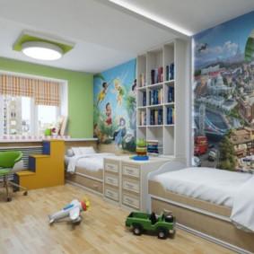 детская для разнополых детей идеи дизайн