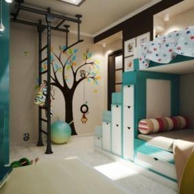 детская для разнополых детей идеи дизайна