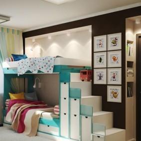 детская для разнополых детей идеи декор