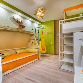 детская для разнополых детей идеи декора