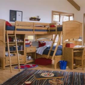 детская комната для троих детей идеи фото