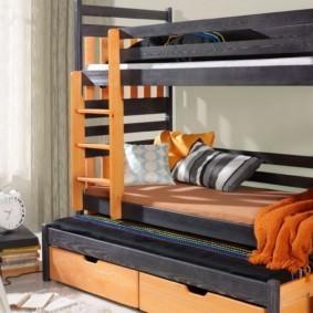 детская комната для троих детей дизайн
