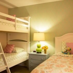 детская комната для троих детей дизайн фото