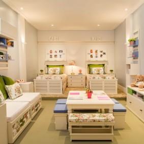 детская комната для троих детей фото дизайн