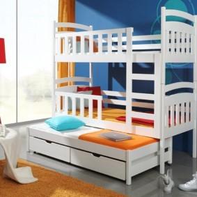 детская комната для троих детей фото