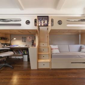 детская комната для троих детей идеи дизайна