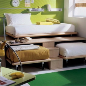 детская комната для троих детей декор фото
