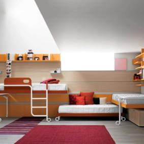 детская комната для троих детей фото декор