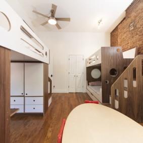 детская комната для троих детей фото декора