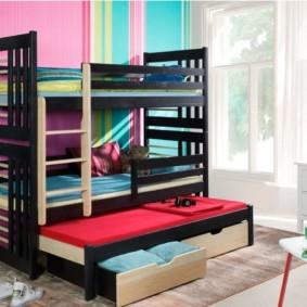 детская комната для троих детей декор идеи