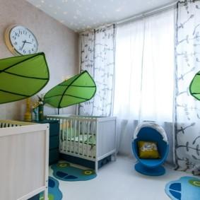 детская комната для троих детей идеи декора