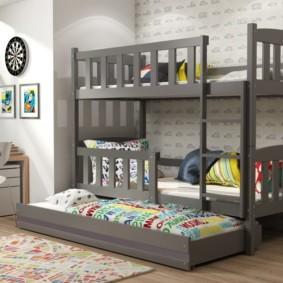 детская комната для троих детей оформление