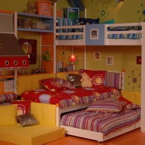 детская комната для троих детей фото оформления