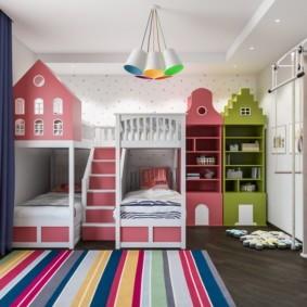 детская комната для троих детей варианты
