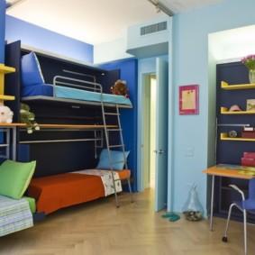 детская комната для троих детей фото вариантов